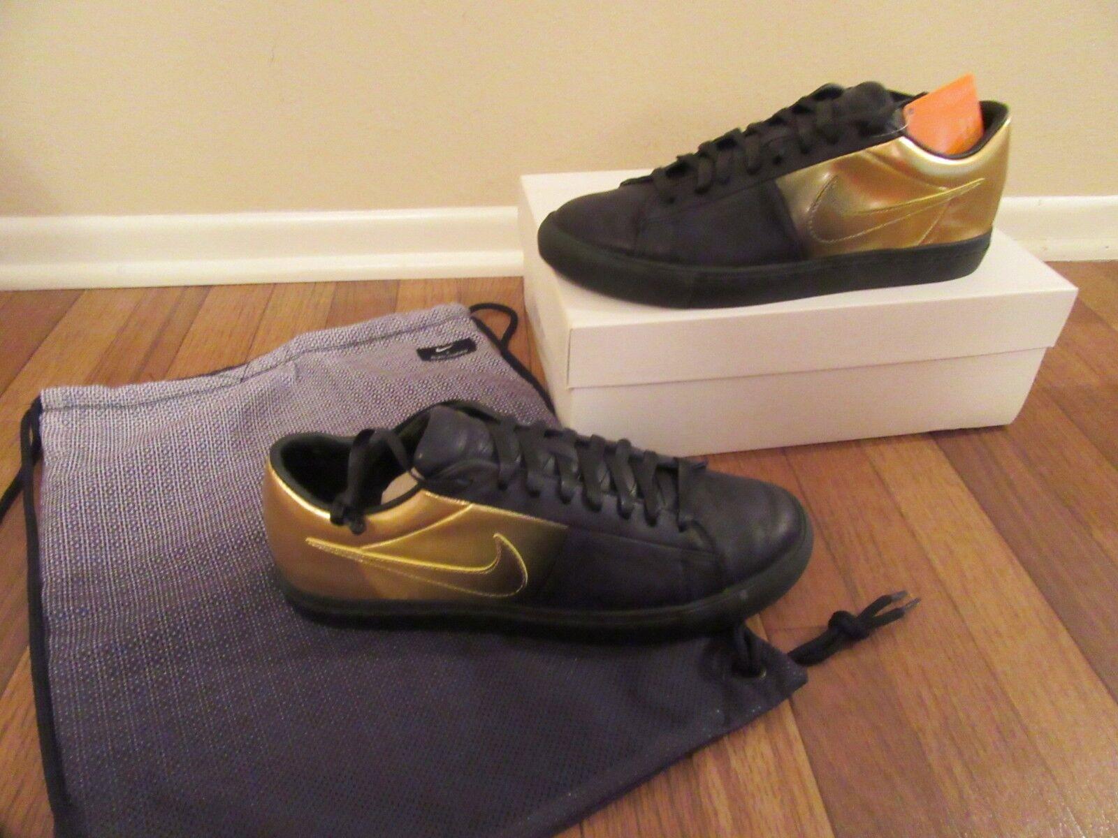 Nike Blazer Low SP / Pedro Lourenco 718798 Size 11.5 Black Gold 718798 Lourenco 008 Brand New DS 3814ab