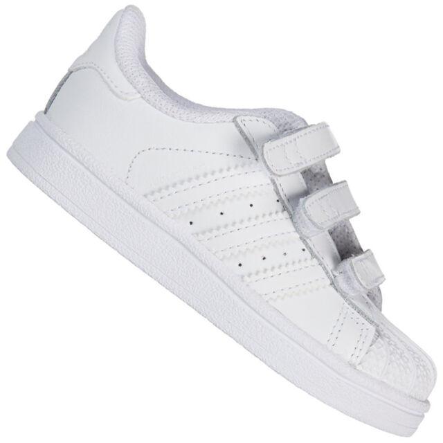 adidas Originals Superstar Baby Kinder Kleinkinder Leder Schuhe Turnschuhe Weiß