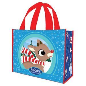RUDOLPH - REUSABLE SHOPPING TOTE / GIFT BAG - CHRISTMAS 65373 | eBay