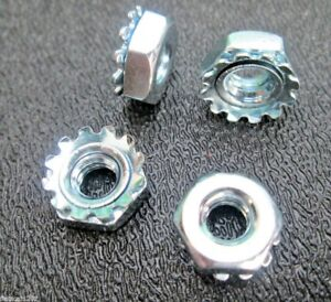 "#10-24  3/8"" KEPS Lock Washer NUTS Bicycle Crafts Industrial Hobbies (50)"