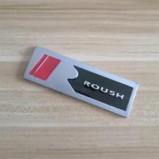 Matte Silver Roush Logo Emblem 3d Badge Metal Sticker Sport Decal For Mustang Gt Fits Focus