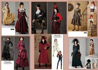 Steampunk Victorian Costume Simplicity Sewing Pattern Misses With Plus Size