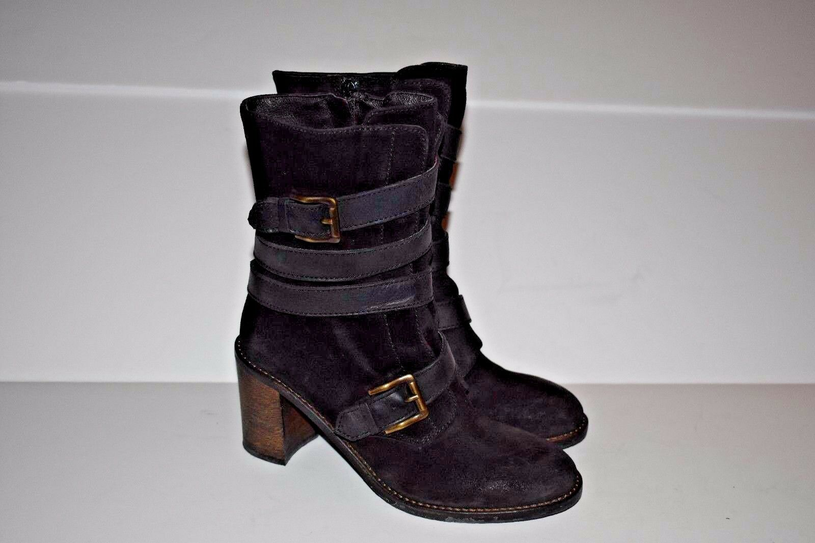 Cordani Woman's Leather Zip Up Boots Boots Boots Made in  Size 36.5 6ef6f3