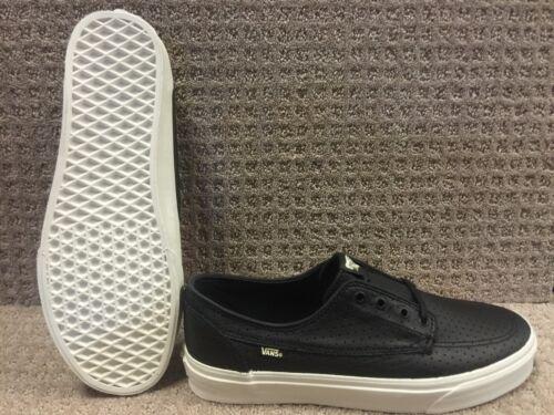Cuero brigata Vans Hombre Negro Zapatos perf w4ntqR0
