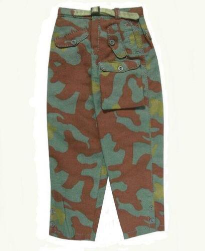 WWII 1//6 Battle Gear Toys Pantalon 381 02 Allemand Panzer Camo Italien
