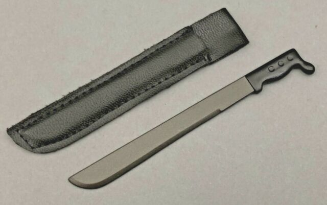 1 21ST CENTURY TOYS MACHETES WITH BLACK SHEATHS FOR 1/6TH SCALE OR 12