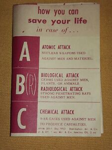 VINTAGE 1956 HOW TO SAVE YOUR LIFE ATOMIC NUCLEAR BIOLOGICAL ATTACK PAMPHLET