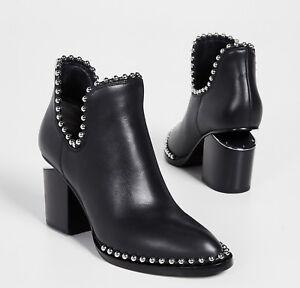New ALEXANDER WANG Gabi Leather Ankle