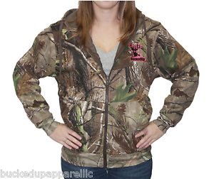 Bucked Up Zipper Hoodie Realtree APG Camo with Pink Logo with Embroidered Logo