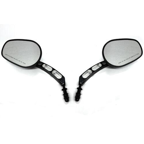 CHROME BLACK REAR VIEW MIRRORS FOR HARLEY SPORTSTER XL 883 1200 DYNA STREET BOB