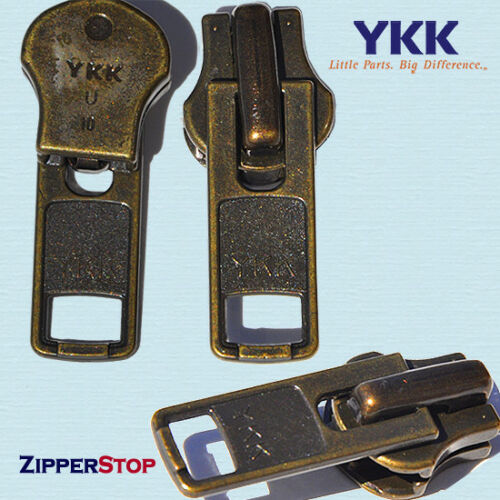 YKK® ORIGINAL SLIDERS #3 #5 #7 or #10 Automatic lock made in USA