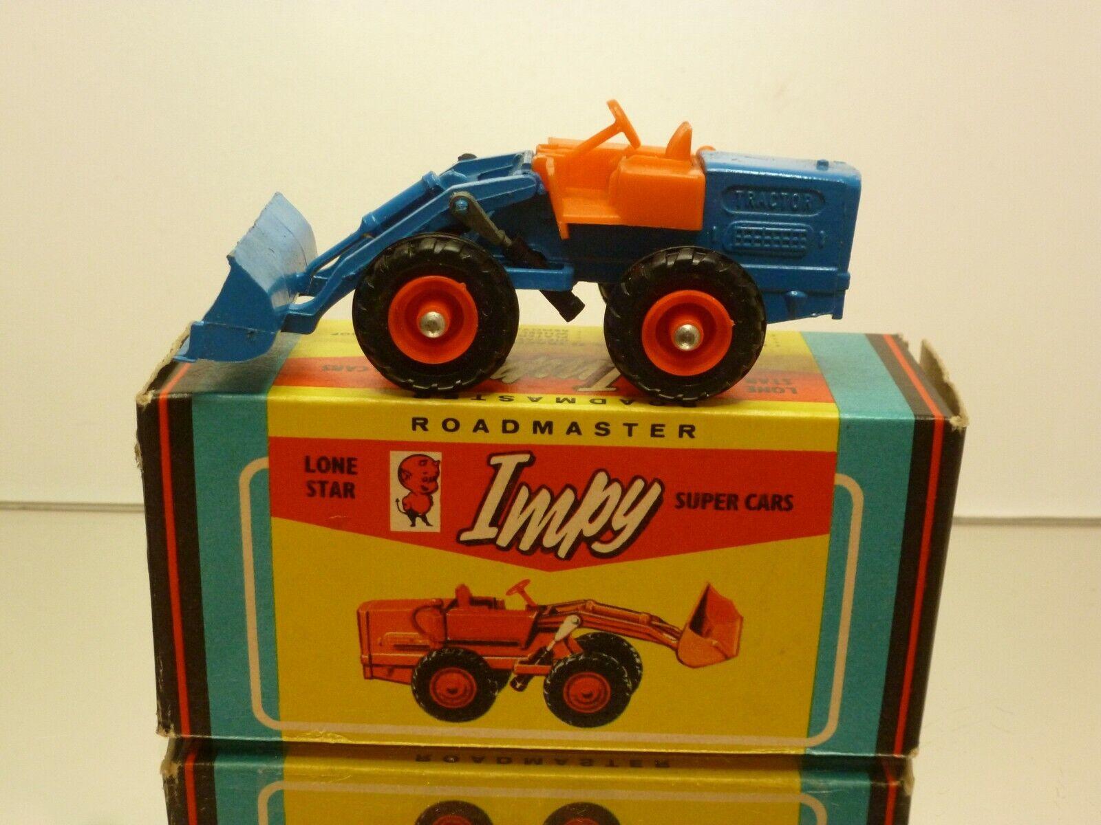 IMPY LONE STAR 25 TRACTOR WHEEL LOADER - blu + arancia - EXCELLENT IN BOX