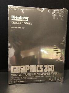 316130 50 Sheets Bienfang 360 Graphics Marker Paper Pad Translucent 11 X 14 inches 13.5 lb