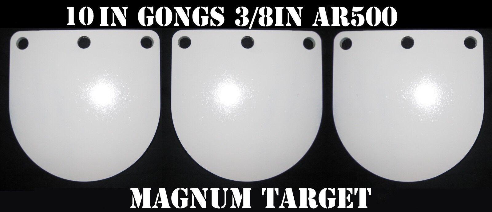 Objetivo de disparo Gong 10 in (approx. 25.40 cm) AR500 - 3 8 THK Metal Target - 3pc conjunto de destino de acero.