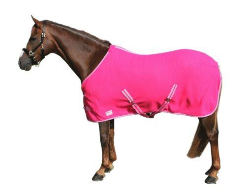 Fleece Abschwitzdecke mit Kreuzbegurtung Pink Gr Farbe 110-150cm