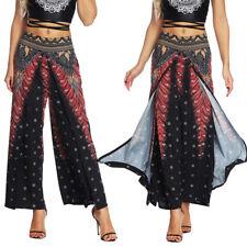 b39b5c2bca31b item 1 Womens Casual Wide Leg Yoga Pants Slit Loose Palazzo Gypsy Hippie  Harem Trousers -Womens Casual Wide Leg Yoga Pants Slit Loose Palazzo Gypsy  Hippie ...