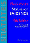 Blackstone's Statutes on Evidence by Michael O'Connell, Phil Huxley (Paperback, 2006)