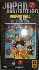 VHS - DE AGOSTINI/ JAPAN ANIMATION - VOLUME 4 - DRAGON BALL