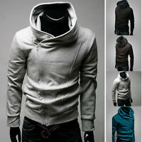 Fashion Mens Hooded Top Zipped Hoodies Hoody Jumper Sweatshirt Jacket Coat M-3XL