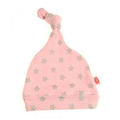 Bonnet De Naissance Coton Pour Bebe Noeud - Rose Avec Etoiles Meno Caro