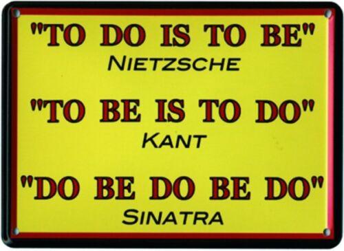 """Schild Alu Artdeco /""""To do is to be/"""" 110x80mm"""