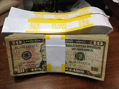 300-Count $50 Dollar Bill Wrappers Money Bands Currency St... Currency Bands
