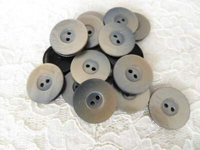 20mm 23mm Ivory White Pearlescent Filigree 2 Hole Polished Buttons Q330A Q330B