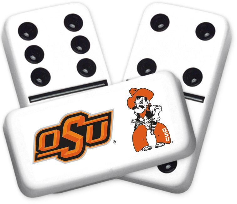 Diseño de la serie Universidad estatal de Oklahoma dominó doble seis Tamaño Profesional