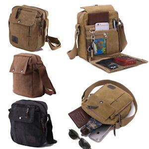 17682a8fa34 Details about Men Vintage Shoulder Messenger Bag Canvas Satchel School  Military Crossbody Bags