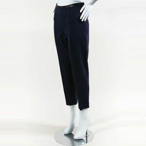 en avec Sz Row cuir garniture noir cuir S Nwt en Bleu The Pantalon noir UXIn7q0