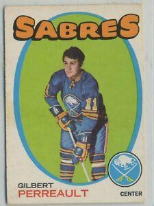 1971-72-TOPPS-60-GILBERT-PERREAULT-Buffalo-Sabres-EX-CARD