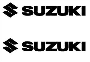 Das Bild Wird Geladen 2 X SUZUKI Schriftzug Logo Viele Farben Groesse