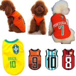 f3bab8179f4 Pet Dog Football World Cup T-shirt Soccer Team Uniform Cat Vest ...