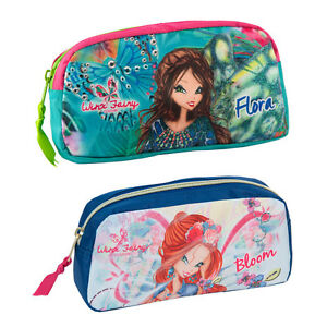 Winx-Fairy-Pencil-Pouch-Case-Tube-Girls-Blue-Green-Flora-Bloom