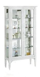 Vetrina-11177-con-2-ante-in-vetro-bianca-legno-massello-89x34x170H