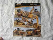 Case Construction Equipment Full Line Brochure Tractor Loaders Excavator