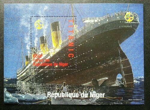 Niger Titanic 1998 Movie History Ship Sinking Transport Vehicle (ms) MNH
