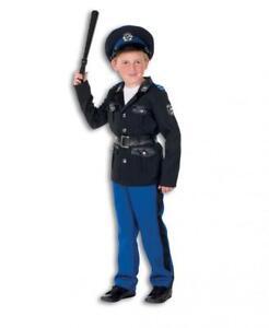 Polizist Polizei Police Cop FBI CIA Kostüm Uniform Anzug Mütze Hut Kinder Junge