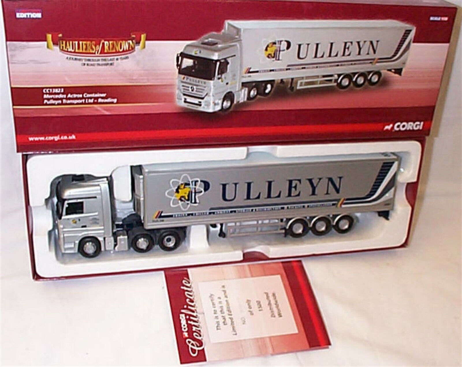 MERCEDES ACTROS CONTAINER Pulleyn Transport CC13823 1-50 nouveau in  Box Ltd Edition  grand choix