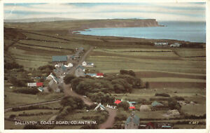 Rare-Vintage-Postcard-Ballintoy-Coast-Road-Antrim-N-Ireland-Aug-1964