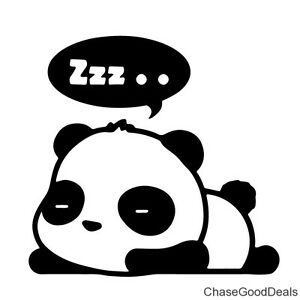 Image Is Loading BLACK Cute Panda Zzz Sleeping Cartoon Vinyl Decal