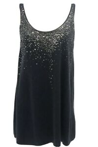 Lux-Eileen-Fisher-178-Cashmere-Blend-Tank-Cami-With-Sequins-Midnight-Blue-Larg