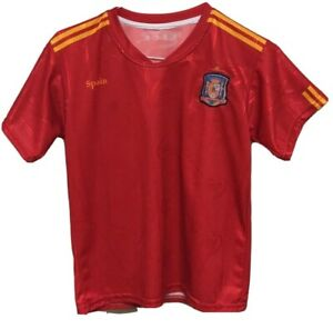 Spain Rfcf Mls Red Soccer Jersey Shirt Sewn On Patch Size Small Ebay
