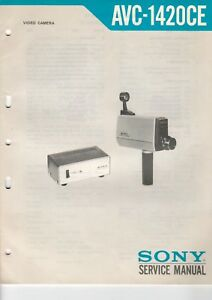 Avc-1420ce Sony B7212 Modernes Design Service Manual Schaltplan Für Video Kamera
