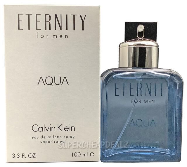 Eternity Aqua by Calvin Klein for Men 3.3 oz EDT Spray (Tester) NEW