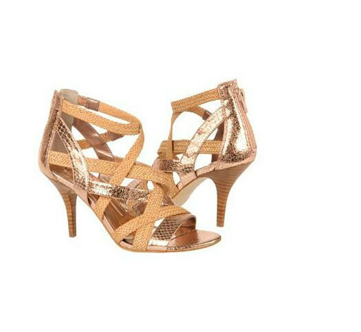 CARLOS SANTANA gold Strap shoes Hills Pumps Nouvelle Dress Sandals Sandals Sandals sz 7.5 NEW 36911e