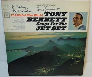 Details about 1965 TONY BENNETT SIGNED AUTOGRAPHED SONGS FOR THE JET SET  RECORD ALBUM LP & COA