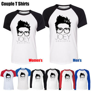 Funny-Youtube-Celebrity-Joey-Graceffa-Graphic-Boy-039-s-Girl-039-s-Couple-T-Shirt-Tops