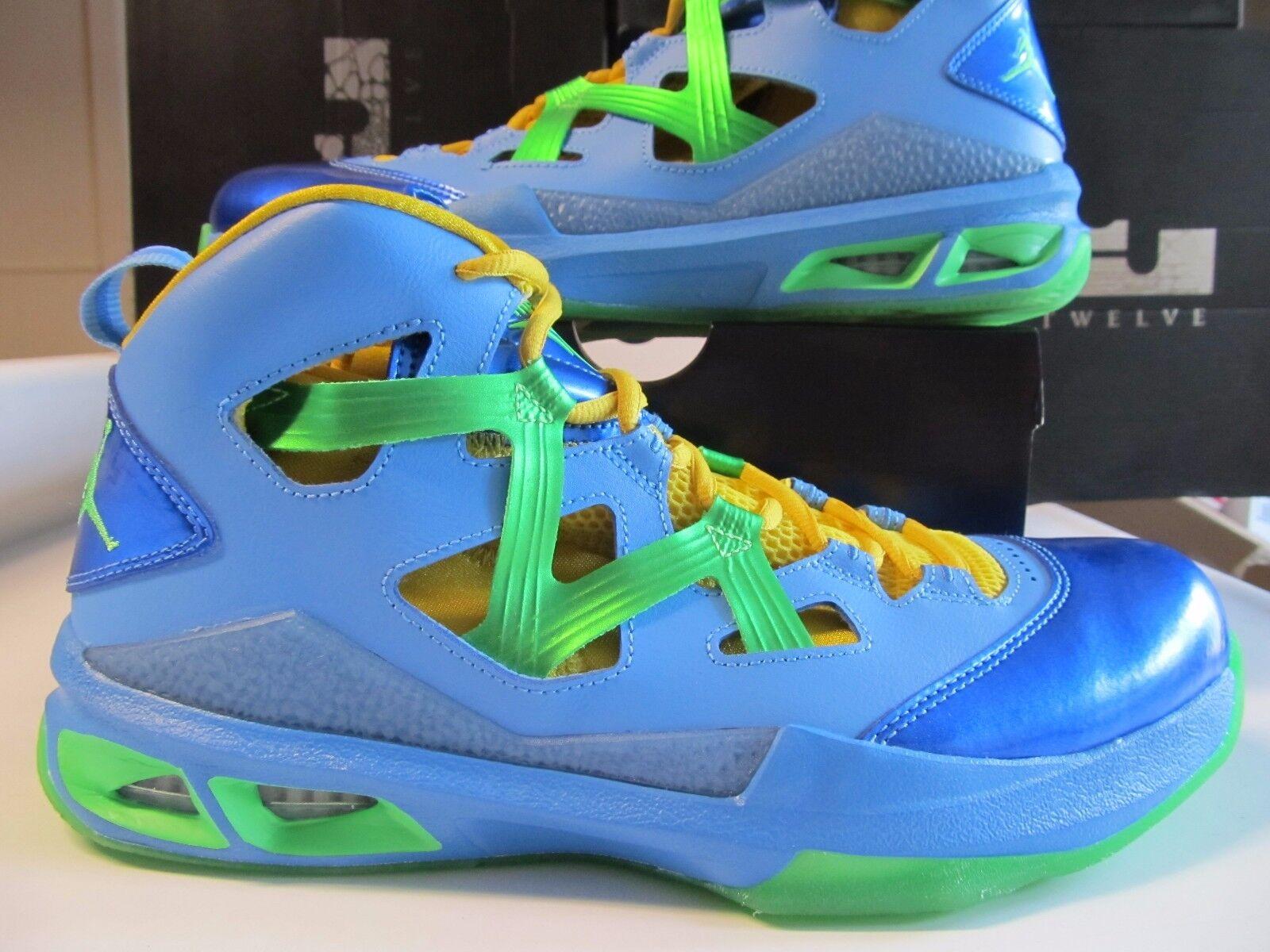 Nike Air Jordan Melo M9 Vivid Blue Poison Green Yellow 551879 415 Easter Brazil
