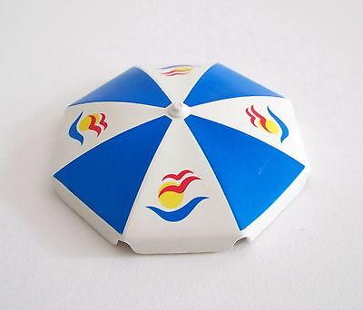 LOISIRS V158 Parasol Bleu à Motifs Piscine 3205 PLAYMOBIL